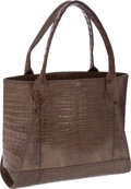 Luxury Accessories:Bags, Nancy Gonzalez Bronze Metallic Crocodile Large Tote. ... (Total: 2Items)