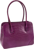 Luxury Accessories:Bags, Lana Marks Lilac Matte Alligator Classic Jet Tote. ... (Total: 2Items)