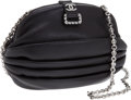 Luxury Accessories:Bags, Chanel Black Ruched Lambskin Leather & Crystal Evening Bag. ...(Total: 2 Items)