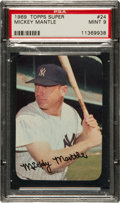 Baseball Cards:Singles (1960-1969), 1969 Topps Super Mickey Mantle #24 PSA Mint 9....