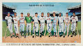 Autographs:Others, 1988 500 Home Run Club Signed Poster with Career TotalNotations....