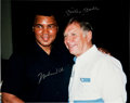 Autographs:Photos, Circa 1990 Muhammad Ali & Mickey Mantle Signed Large Photograph....