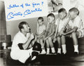"Autographs:Photos, Circa 1990 Mickey Mantle ""Father of the Year?"" SignedOversized Photograph...."