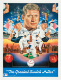 Autographs:Others, Circa 1990 Mickey Mantle Signed Print....