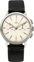 Timepieces:Wristwatch, Omega Vintage Steel Chronograph. ...