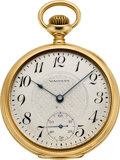 Timepieces:Pocket (post 1900), Waltham 14k Gold 16 Size 21 Jewel Riverside Maximus, circa 1901....