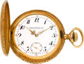 Timepieces:Pocket (pre 1900) , Patek Philippe Gold Hunters Case Pocket Watch, circa 1915. ...
