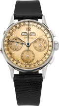 Timepieces:Wristwatch, Wittnauer Three Register Chronograph With Calendar. ...
