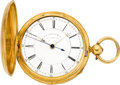 Timepieces:Pocket (pre 1900) , M.I. Tobias Center Seconds Gold Fusee, circa 1858. ...
