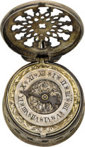 Timepieces:Pocket (pre 1900) , Sixteenth Century Style Drum Case With 18th Century Verge Fusee....