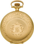 Timepieces:Pocket (post 1900), Illinois 14k Gold 12 Size Hunters Case. ...