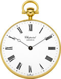 Timepieces:Pocket (post 1900), Chopard 18k Gold Pocket Watch. ...