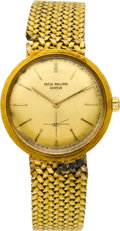 Timepieces:Wristwatch, Patek Philippe Ref. 3415 Gold Automatic Wristwatch, circa 1960's. ...