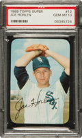 Baseball Cards:Singles (1960-1969), 1969 Topps Super Joe Horlen #12 PSA Gem Mint 10....