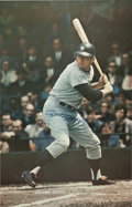 Autographs:Others, Circa 1990 Mickey Mantle Signed Massive Photo Poster....