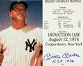 Autographs:Photos, Circa 1990 Mickey Mantle Signed Oversized Photograph....