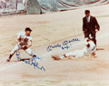 Autographs:Photos, Circa 1990 Brooks Robinson & Mickey Mantle Signed Oversized Photograph....