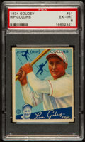 "Baseball Cards:Singles (1930-1939), 1934 Goudey Jim ""Rip"" Collins #51 PSA EX-MT 6...."