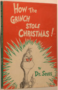 """Books:Children's Books, Dr. Seuss [Theodor Geisel]. How the Grinch Stole Christmas!New York: Random House, 1957. Early edition with """"16 boo..."""