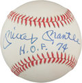"Autographs:Baseballs, 1980's Mickey Mantle ""H.O.F. '74"" SingleSigned Baseball, PSA/DNA NM-MT 8...."