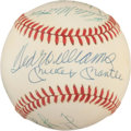 Autographs:Baseballs, Circa 1985 500 Home Run Club Signed Baseball....
