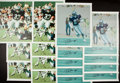 Football Collectibles:Others, Drew Pearson and Tony Dorsett Signed Canvas Prints Lot of 16....