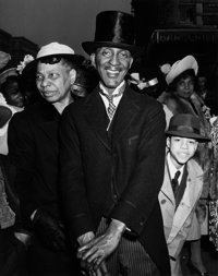 WEEGEE (American, 1899-1968) Easter Sunday, Harlem, circa 1940 Gelatin silver, printed later 13 x