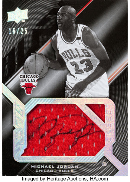 best service cfec5 fc218 2008-09 Upper Deck Black Michael Jordan Signed Game Used ...