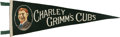 Baseball Collectibles:Others, Rare 1930 Chicago Cubs Charley Grimm Pennant....