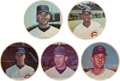 Baseball Cards:Sets, 1967 Pro's Pizza Chicago Cubs Color Collection (5). ...