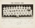 Autographs:Photos, 1963 Chicago Cubs Team Signed Photograph with Ken Hubbs....