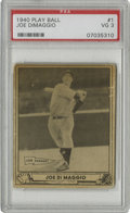 Baseball Cards:Singles (1940-1949), 1940 Play Ball Joe DiMaggio #1 PSA VG 3. This #1 card from thestar-studded 1940 Play Ball issue remains one of Joe D's mos...