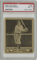 Baseball Cards:Singles (1940-1949), 1940 Play Ball Hank Greenberg #40 PSA NM 7. Yet another fine HOFentry from the 1940 Play Ball set, this one a high-grade e...