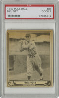 Baseball Cards:Singles (1940-1949), 1940 Play Ball Mel Ott #88 PSA Good 2. The slugging New York Giants hero Mel Ott is finely represented in this example from...