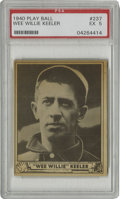 """Baseball Cards:Singles (1940-1949), 1940 Play Ball Wee Willie Keeler #237 PSA EX 5. Batting aficionado Wee Willie Keeler's motto of """"Hit 'em where they ain't"""" ..."""