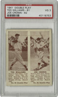 Baseball Cards:Singles (1940-1949), 1941 Double Play #81 Ted Williams/#82 Joe Cronin PSA VG 3. Fine Hall of Fame pairing is made available here with this 1941 ...