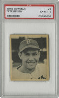 Baseball Cards:Singles (1940-1949), 1948 Bowman Pete Reiser #7 PSA EX-MT 6. Amazing image clarity isevident her with this PSA 6 example from the 1948 Bowman i...