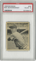 Baseball Cards:Singles (1940-1949), 1948 Bowman Red Schoendienst #38 PSA VG-EX 4. Long-time Cardinalsman Red Schoendienst still holds a position with the orga...