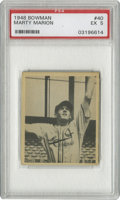 Baseball Cards:Singles (1940-1949), 1948 Bowman Marty Marion #40 PSA EX 5. Before he went on to have amanagerial career, Marty Marion played at the major leag...