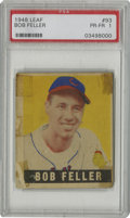 Baseball Cards:Singles (1940-1949), 1948-49 Leaf Bob Feller #93 PSA PR-FR 1. One of the toughshort-print cards from the 1948-49 Leaf set features Hall ofFame...
