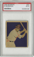 Baseball Cards:Singles (1940-1949), 1949 Bowman Stan Musial #24 PSA EX 5. Produced at a time whenBowman was really beginning to perfect the things that made t...