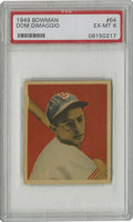 Baseball Cards:Singles (1940-1949), 1949 Bowman Dom DiMaggio #64 PSA EX-MT 6. An example of Boston RedSox All-Star Dom DiMaggio's entry from the 1949 Bowman ...