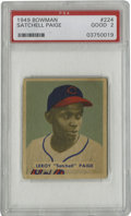 Baseball Cards:Singles (1940-1949), 1949 Bowman Satchell Paige #224 PSA Good 2. One of the keys to thecollector-favorite 1949 Bowman issue features the most r...