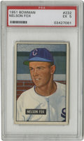 Baseball Cards:Singles (1950-1959), 1951 Bowman Nelson Fox #232 PSA EX 5. Shown here near the onset of his fantastic stretch with the Chicago White Sox, Hall o...