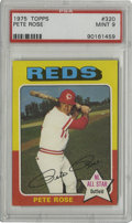 Baseball Cards:Singles (1970-Now), 1975 Topps Pete Rose #320 PSA Mint 9. Known for their multi-colored full-bleed borders, an obstacle to finding high-grade e...