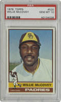 Baseball Cards:Singles (1970-Now), 1976 Topps Willie McCovey #520 PSA Gem Mint 10. The slugging 500Home Run Club first baseman Willie McCovey is the subject ...