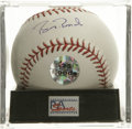 Autographs:Baseballs, Barry Bonds Single Signed Baseball, PSA Gem Mint 10. The finestBonds single on the market, joining together a flawless blu...