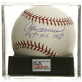 "Autographs:Baseballs, Andre Dawson ""87 N.L. MVP"" Single Signed Baseball, PSA Mint+ 9.5.The Cubs superstar makes note of his 1987 MVP award bene..."