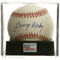 Autographs:Baseballs, Larry Doby Single Signed Baseball, PSA Mint 9. A stellar singlefrom the Negro League Hall of Famer. Ball has been encapsu...