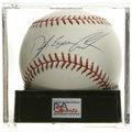 Autographs:Baseballs, Dwight Eugene Gooden Single Signed Baseball, PSA Mint+ 9.5. DocGooden has signed this rare full name single. Ball has bee...